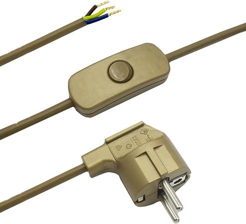C/âbles C/âble de raccordement 1,50/m Interrupteur /à bascule pour c/âble de table et lampadaire 3/C/âbles 250/V prise Noir