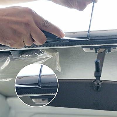 BOUSH Windshield Urethane Scraper Tool Set with 3pcs Blades with Soft Rubber: Automotive