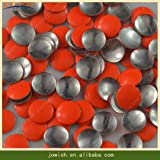 Garment Rivet - 2mm 3mm 4mm 5mm 6mm Wholesale Round Beads Metal Flatback Buttons Hotfix for Craft Decorative Metal Studs - (Color: Orange, Size: 4mm 200 Gross)