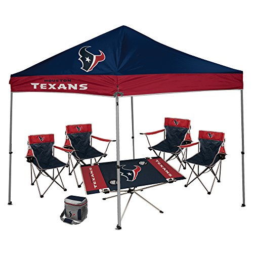 NFL Hall of Fame Tailgate Bundle - Houston Texans (1 9X9 Canopy 4 Kickoff  sc 1 st  Tailgate Canopy Popup Tents with NCAA and NFL Team Logos & HOUSTON TEXANS Pop Up Canopy Tent for Tailgating Camp.. |