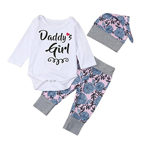 Baby Girls Cartoon Printed Long Sleeve Tops Pants Clothes Outfit Set (Multicolor) - 1