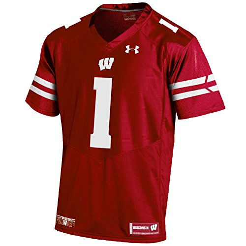 Under Armour NCAA Wisconsin Badgers Men's Premier Sideline Replica #1 Jersey, X-Large, Flawless