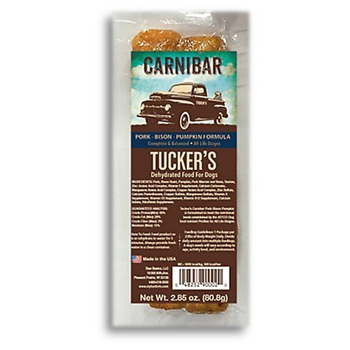 Tucker's Pork, Bison and Pumpkin Individually Wrapped Carnibar Complete and Balanced Meal for Dogs, 2.85 Ounces Each, Case of 4 ()