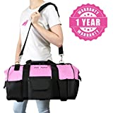 "Pink Power 20"" Tool Bag for Women with 28 Storage"
