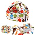 Toddler Baby Safety Helmet Children Headguard Infant Protective Harnesses Cap Adjustable Printed Head Guard Head Protector Cute Owl & Candy & Stars & Cat