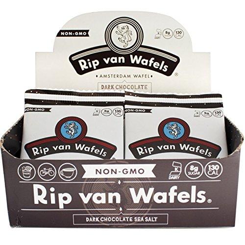 Rip van Wafels Snack Wafels, Dark Chocolate and Sea Salt, 1.2oz, 16 Count
