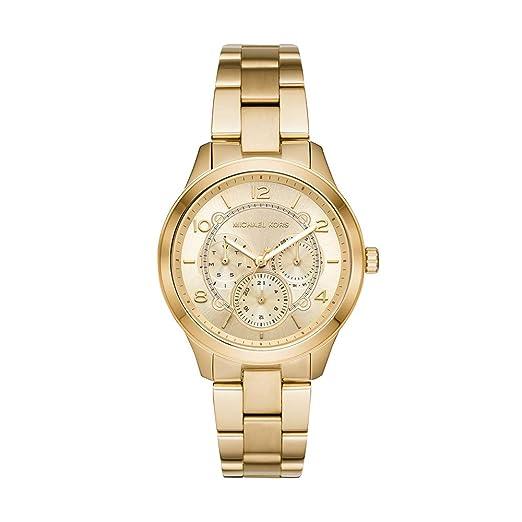 Michael Kors Reloj Analógico para Mujer de Cuarzo con Correa en Acero Inoxidable MK6588: Amazon.es: Relojes