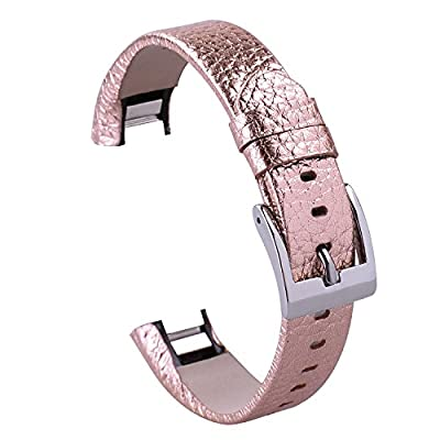 Replace Fitbit Alta Leather Bands for Fitbit Alta Smart Watch. (rose gild)