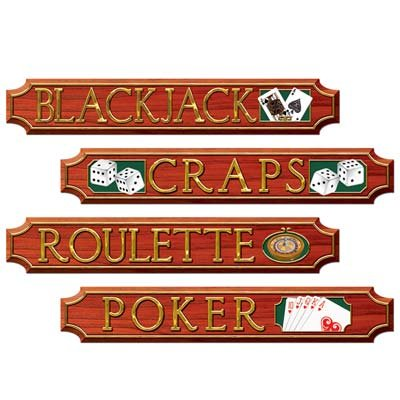 Casino Sign Cutouts   (4/Pkg)