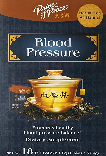 PRINCE OF PEACE Blood Pressure Herbal Tea 18 Bag, 1.14 oz from Prince Of Peace