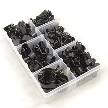 Nylon schwarz Kunststoff P Clips für Draht, Kabel, Leitungen ...