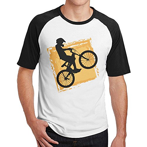 - Z Cheing Raglan T Shirts Short-Sleeve Crewneck For Mens Bicycle Rider Speed BMX AnticGift