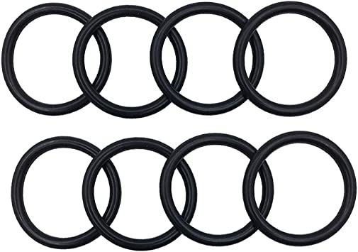 Probrother 8 PCS BILLET BUMPER TRUNK QUICK RELEASE FASTENER KIT REPLACEMENT RUBBER O RING