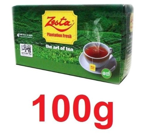 Zesta Pure Ceylon Black Tea, Tea Bags, 50 Count