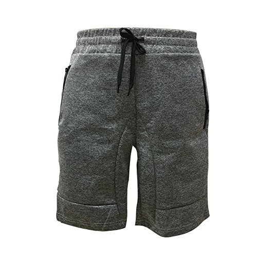 ZEFOTIM Casual Shorts for Men's Zipper Pocket Casual Elastic Waist Harem Training Jogger Sport Short Pants(Gray,XX-Large) ()