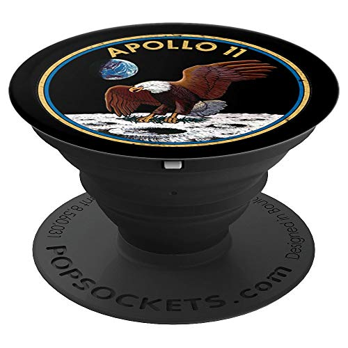 NASA Apollo 11 Mission Patch Moon Landing 50th Vintage Gift - PopSockets Grip and Stand for Phones and Tablets