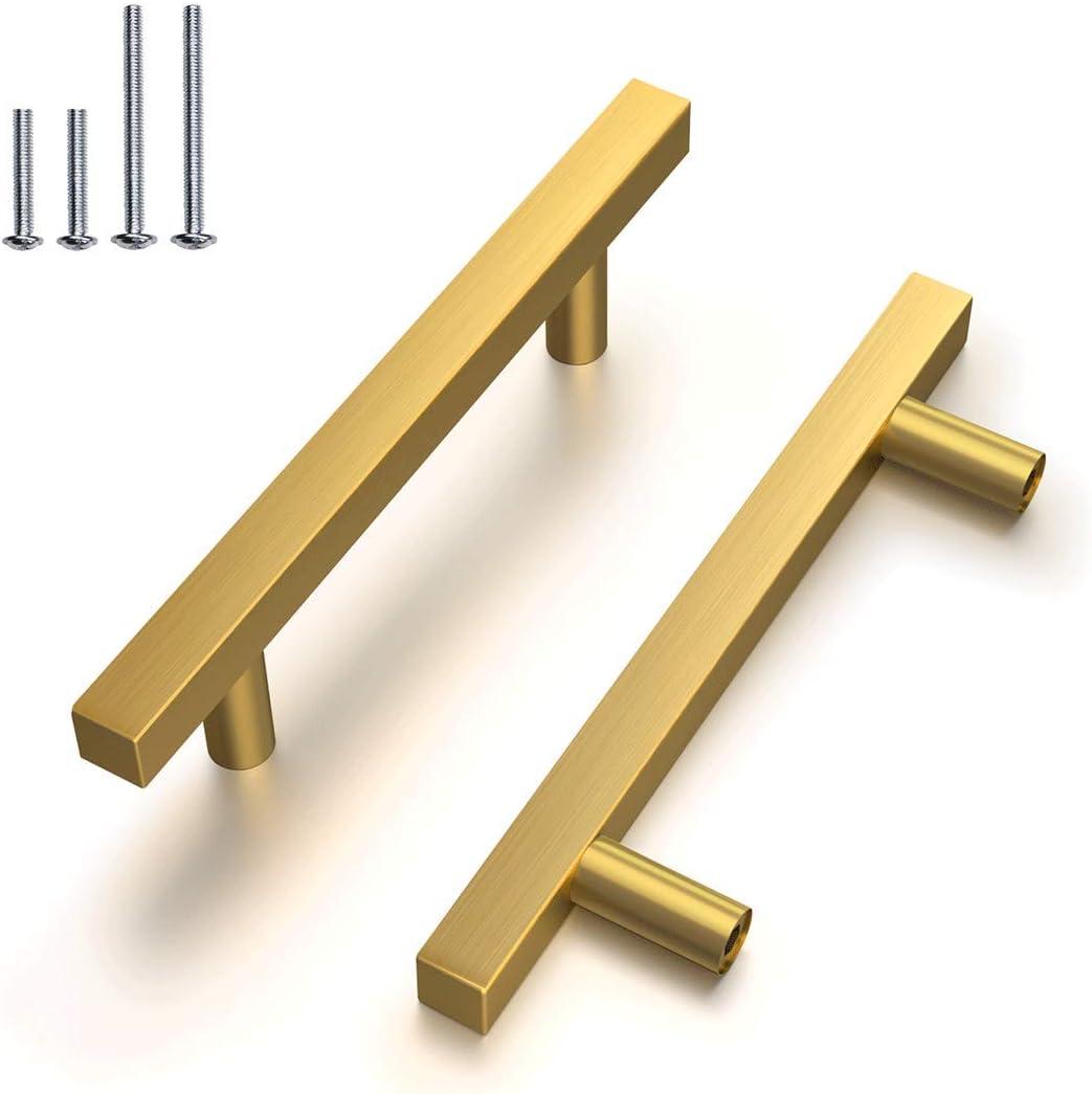 "Set 17 Vtg Shiny Brass Drawer Pulls Knobs Cabinet Gold 4 1//4/"" long 3/"" on center"