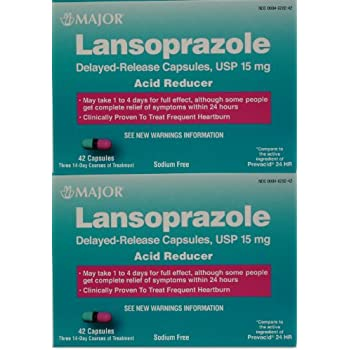 Amazon com: Equate - Lansoprazole 15 mg, Acid Reducer, 42