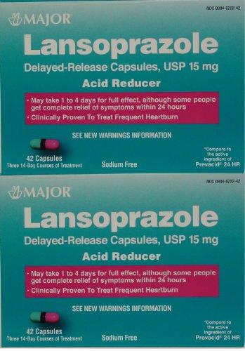 Lansoprazole 84 Capsules Delayed Release Acid Reducer Generic for Prevacid OTC 15 MG Capsules 42 ea. 2 PACK Total 84 ea.