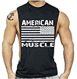American Muscle Workout T-Shirt Bodybuilding Tank Top Black S-3XL (M, Black) offers
