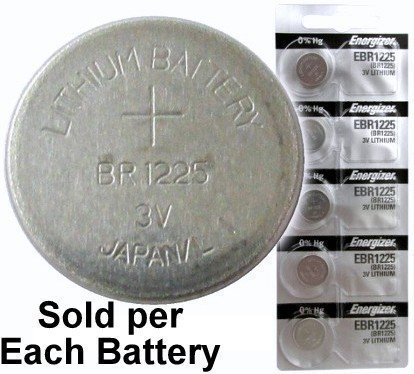 (Energizer EBR1225 (BR1225, CR1225) Lithium Coin Cell, On Tear Strip (Pack of 5))