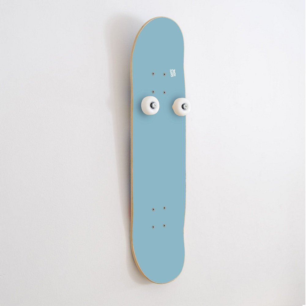 Decor wall skate room - Skateboard boys and girls with original wall rack with bearings and wheels hook - gifts for skateboarder - blue sky vertical coat rack and Free skate stickers