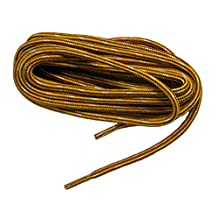 Yellow Gold w/ Brown proTOUGH(TM) Kevlar Reinforced Heavy Duty Boot Laces Shoelaces (2 Pair Pack)