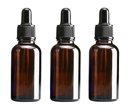 3 botellas vacías de 30 ml de vidrio ámbar para maquillaje, maquillaje, cosméticos,