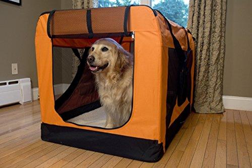 Iconic Pet Versatile Pet Soft Crate with Fleece Mat, Coffee/Khaki, X-Large by Iconic Pet (Image #8)