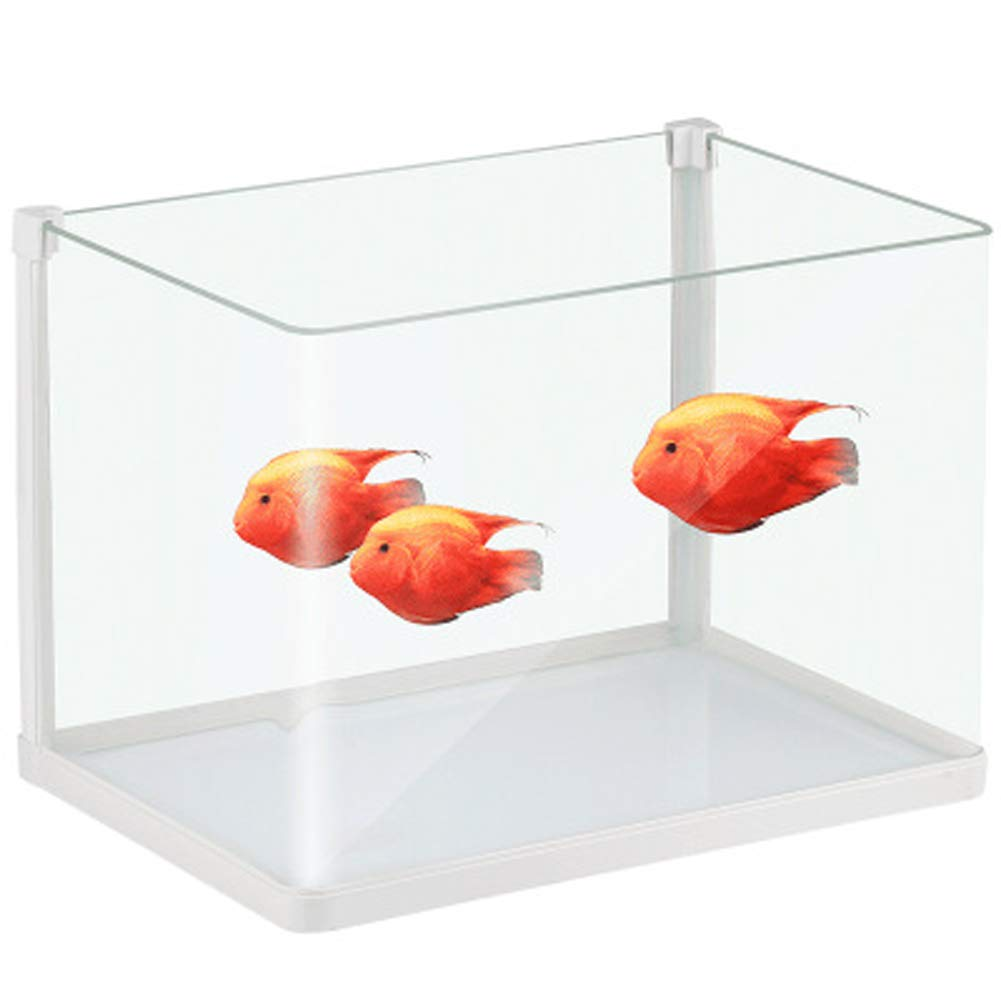 HKR-230 LSHUAIDJ Aquarium fish tank open tropical fish tank living room home fish tank transparent glass gold fish tank small mini-HKR-230