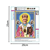 Shybuy 5D DIY Diamond Painting, Full Drill Christianity Religion Embroidery Rhinestone Cross Stitch Painting by Number Kits (A, 20cm25cm)