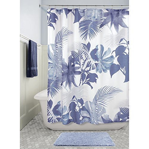 "InterDesign Watercolor Fern Fabric Shower Curtain, 72"" x ..."
