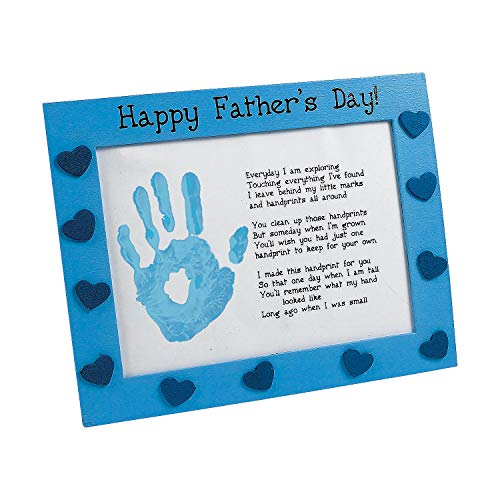 Fun Express - Father's Day Handprint Frame Craft for Father's Day - Craft Kits - Hanging Decor Craft Kits - Handprint Decoration Kits - Father's Day - 6 Pieces