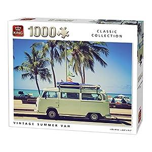 King 5719 Vintage Summer Van Puzzle Da Pezzi 68 X 49 Cm