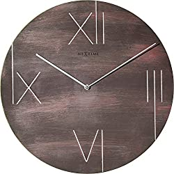 Unek Goods NeXtime Galileo Wall Clock, Metal, Battery Operated, Round, Brown