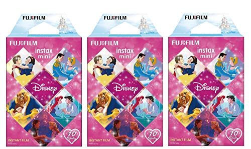 Fujifilm Instax Mini Disney Princess Film - for Fuji Instant Mini Cameras Set of 3 Packs x 30 Photos (Polaroid Camera Film Disney)