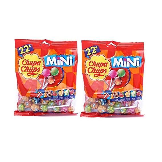 Chupa Chups Mini 22 Assorted Lollipops Packet, 132g Pack of 2