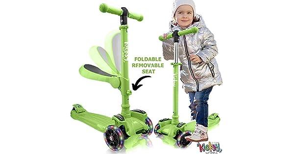 Amazon.com: Kicsky - Patinete con ruedas para niños con ...