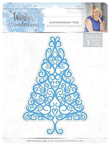 (Sara Siganture S-WW-MD-CT Sara Signature Winter Wonderland Contemporary Tree Thin Metal Die, Silver)