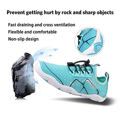 XIDISO Mens Womens Water Shoes Quick Dry Barefoot for Swim Diving Surf Aqua Sports Pool Beach Walking Yoga