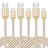 Micro USB Cable 10ft, High Charging Speed USB 2.0 Nylon Braided Cords with Aluminum Connectors by iSeekerKit for Samsung, Android and more [3 Pack]