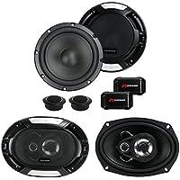 Renegade RX6.2C 6.5 200W 2 Way Car Components + 2) 6x9 300W 3-Way Car Speakers