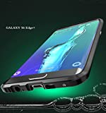 Galaxy S6 Edge Plus Case, 3D Curved Surface CNC Aviation Aluminum Alloy Metal Scratch-Resistant Built-in Sponge Drop Protection Bumper Frame Shell for Galaxy S6 Edge Plus Black