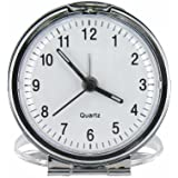 Bold Traditional Metal Folding Travel Alarm Clock