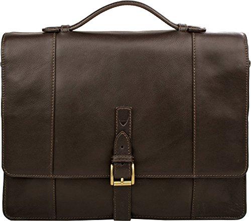 57d6a2635487 Hidesign Maverick 02 Double Gusset Briefcase Bag - Laptop Bag - Messenger  Bag - For Men - Travel Bag - Casual Travel - For Work With Removable Leather  ...
