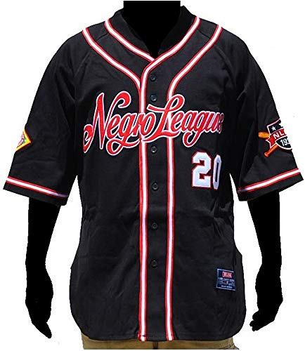 (Cultural Exchange Big Boy NLBM Replica Mens Baseball Jersey [Black - 4XL])