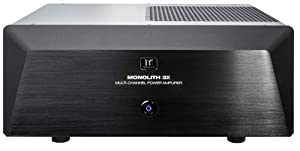 Monoprice Monolith Multi-Channel Power Amplifier - Black with 3x200 Watt Per Channel, XLR Inputs, for Home Theater & Studio