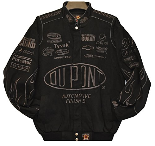 Jeff Gordon Dupont Flame Black NASCAR Jacket Size Large