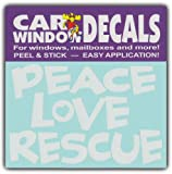 peace love cats decal - Car Window Decals: PEACE LOVE RESCUE | Dogs Cats | Stickers Cars Trucks Glass