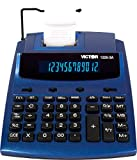 Victor 12253A Antimicrobial Two-Color Printing Calculator, Blue/Red Print, 3 Lines/Sec
